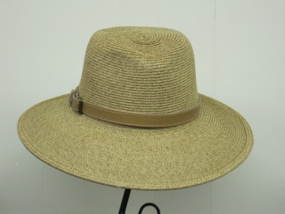 Wide Fedora w/ Leather Band