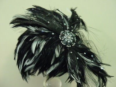 Feathered Crown w/Brooch-Sale Item