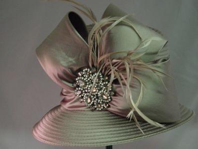 Ribbon Bucket w/ satin bow & broach - Sale Item